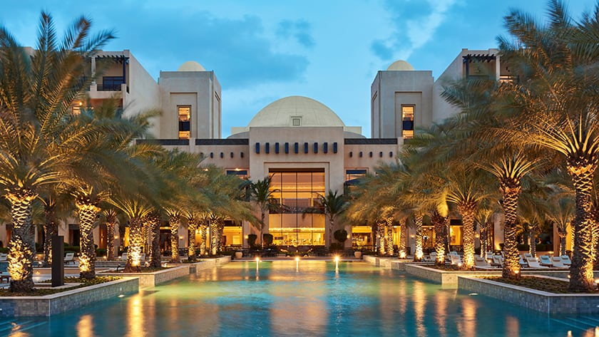 Hilton Ras Al Khaimah Resort Pool at Night