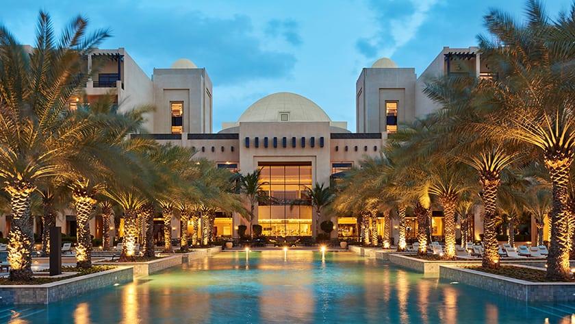 Hilton Ras Al Khaimah Resort Pool at Night